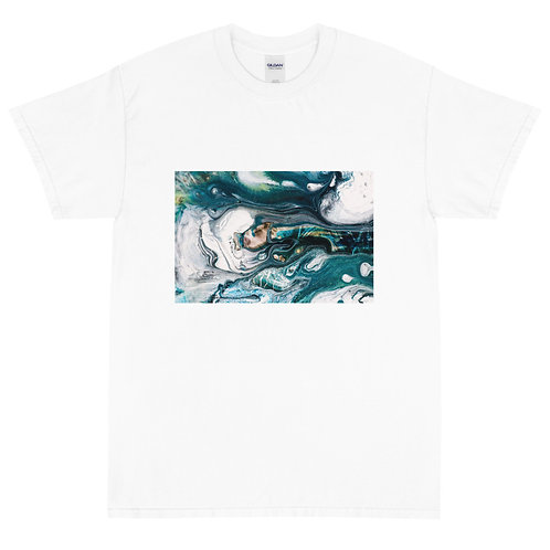 Men's Classic T-Shirt: Abstract Blue Wash