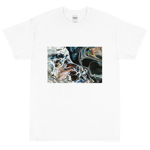 Mens Classic T-Shirt: Abstract Black Wash