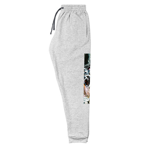 Unisex Joggers: Abstract Black Wash