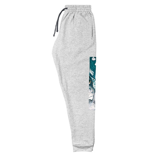 Unisex Joggers: Abstract Blue Wash