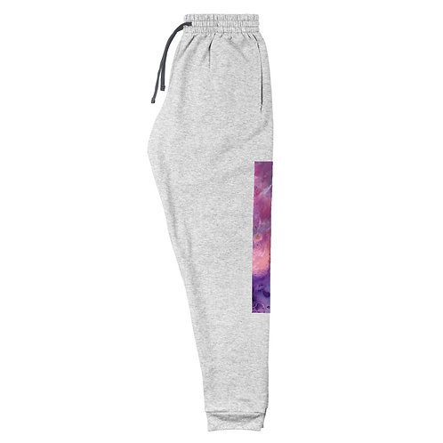 Unisex Joggers: Abstract Pink Wash