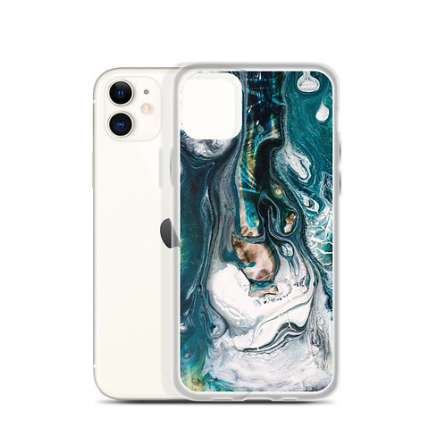 iPhone Case: Abstract Blue Wash
