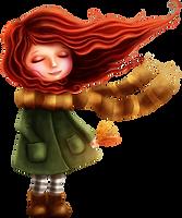 Осень девочка