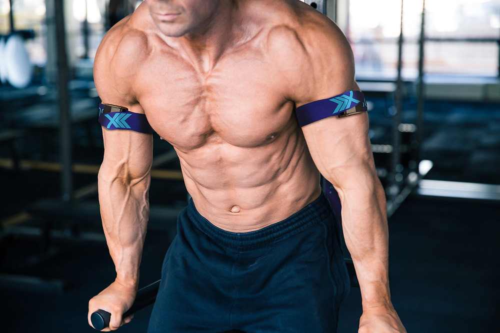 Tricep dips with occlusion