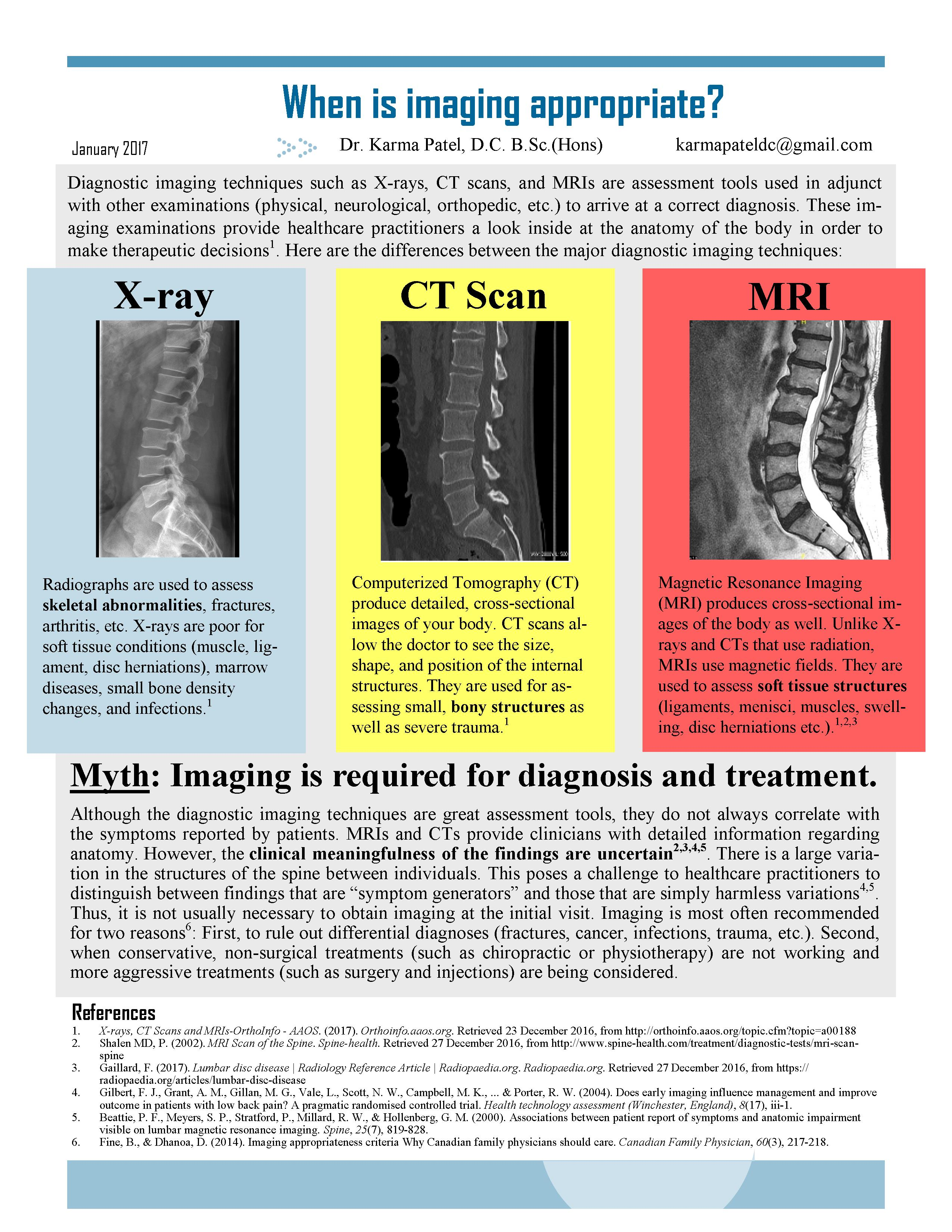 When should you get an x-ray, CT, or MRI? | umana-health