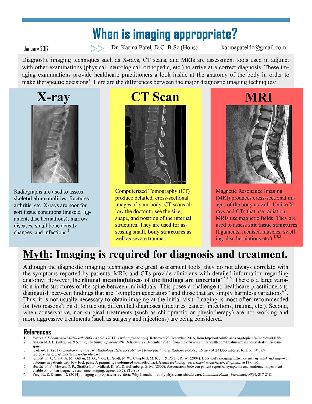 Why you don't need an x-ray, CT scan, or MRI right away.