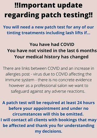 You will need a new patch test for any o