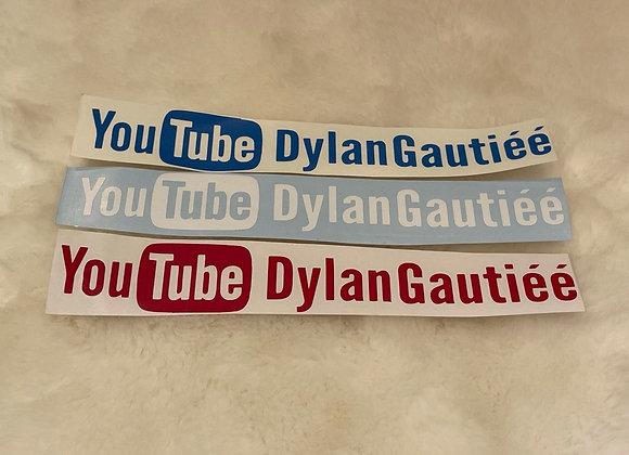 Petit autocollant Youtube