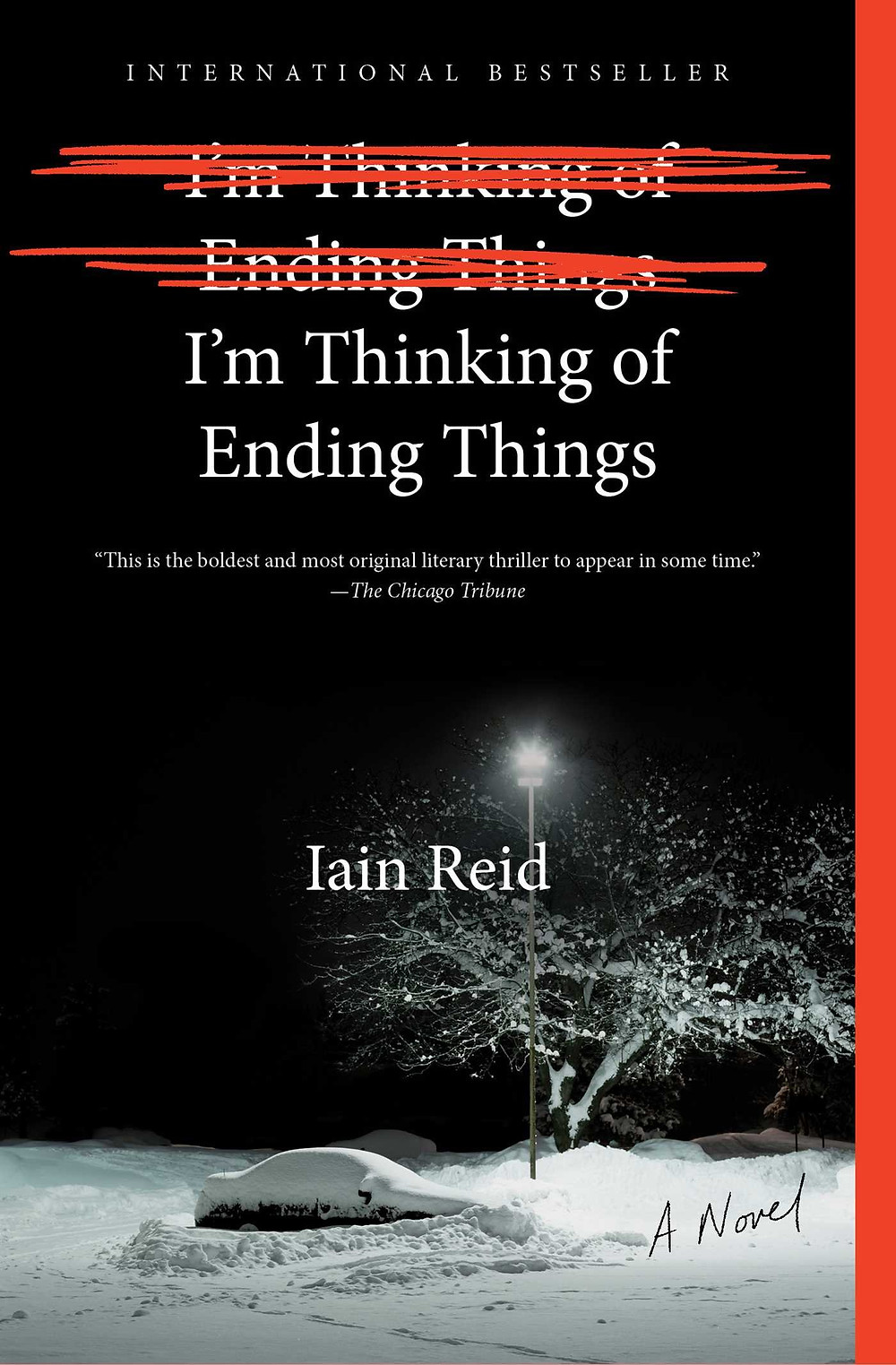 I'm Thinking of Ending Things by Iain Reid : the book slut book reviews thrillers thebookslut