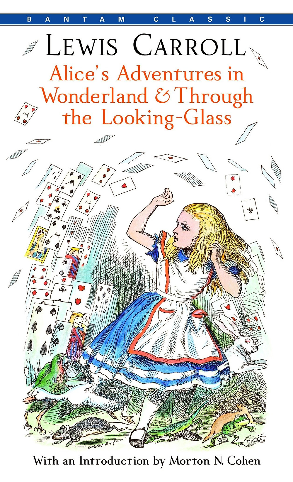 Alice's Adventures in Wonderland & Through the Looking-Glass Lewis Carroll (Author)  Anna South (Afterword by)  John Tenniel (Illustrator) Description Selected for The Great American Read, the PBS series celebrating America's 100 most-loved books. It's a warm summer's afternoon when young Alice first tumbles down the rabbit hole and into the adventures in Wonderland that have kept readers spellbound for more than 150 years. Part of the Macmillan Collector's Library; a series of stunning, clothbound, pocket sized classics with gold foiled edges and ribbon markers. These beautiful books make perfect gifts or a treat for any book lover. This edition is brought to life by Sir John Tenniel's legendary illustrations in black and white, and with an afterword by Anna South. Collected here are Lewis Carroll's two classics - Alice's Adventures in Wonderland and Through the Looking-Glass - in which Alice encounters the laconic Cheshire Cat, the anxious White Rabbit and the terrifying Red Queen, as well as a host of other outlandish and charming characters. bookslut, thebookslut.com, Publisher MacMillan Collector's Library Publish Date April 26, 2016 Pages 288 Dimensions 3.9 X 0.7 X 6.0 inches | 0.4 pounds Language English Type Hardcover EAN/UPC 9781909621572 BISAC Categories: Classics Literary General Classics Classics