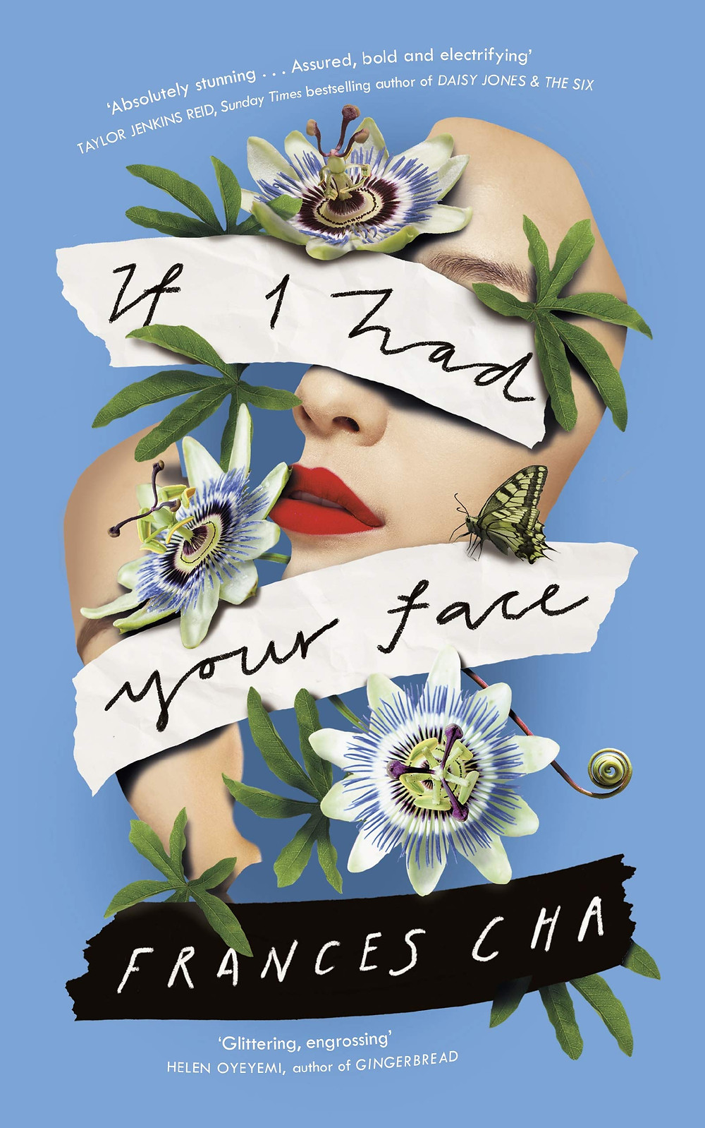 If I Had Your Face By Frances Cha best blue book covers collage portrait passionfruit flower viking books thebookslut book reviews the book slut