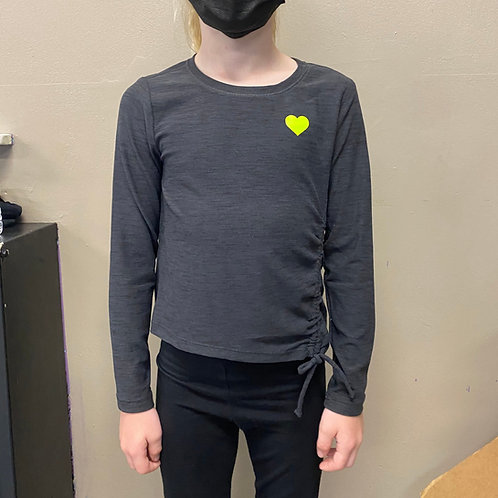 YOUTH Charcoal Long Sleeve Dance Top