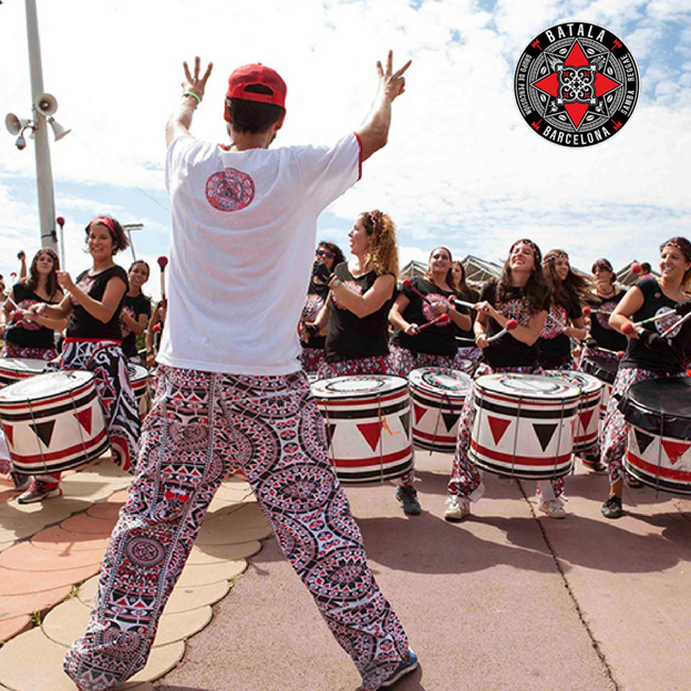 To the rhythm of drums!