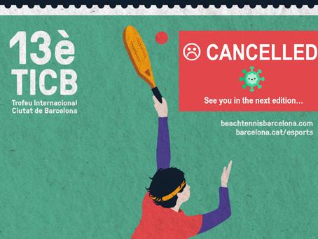 Cancelado el 13è TICB, Torneo Internacional Ciutat de Barcelona de Tennis Platja 10.000$