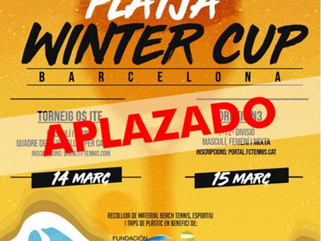 Aplazado el ITF y el Nacional Winter Cup Barcelona