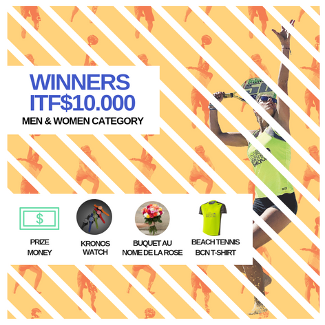 Prizes ITF$10.000 winners!