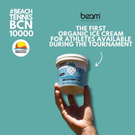 Beam Super Gelato with the #beachtennisbcn10000