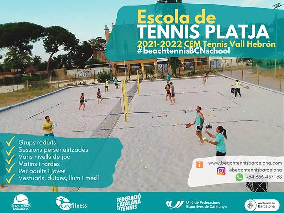 Escola Tennis Platja 2021-22 - info