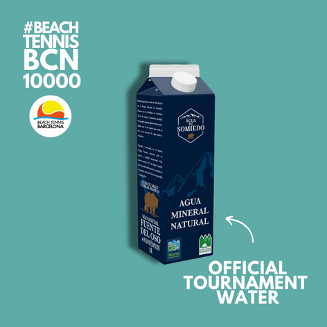 The best water for the #beachtennisbcn10000 and for the planet!