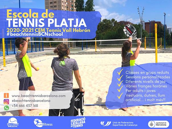 Escola Tennis Platja 2020-21 portada web