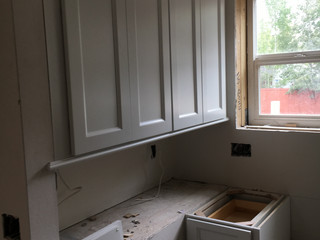 Cabinets, coming through