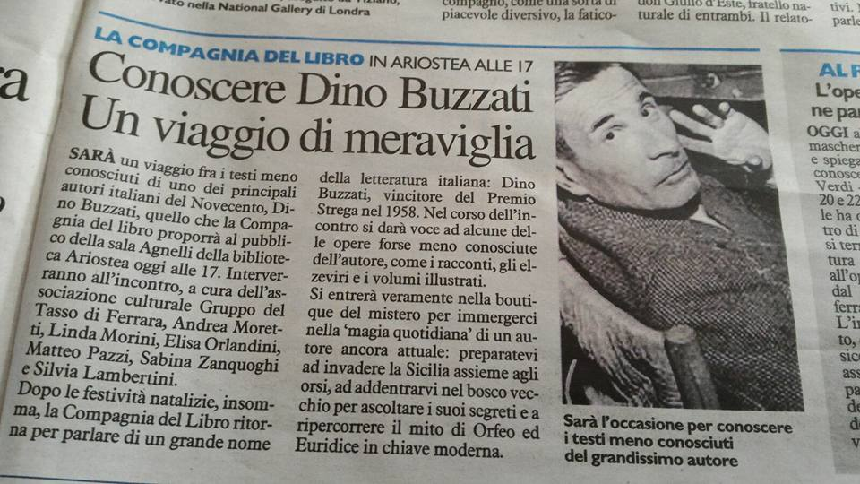 Compagnia del Libro - Dino Buzzati