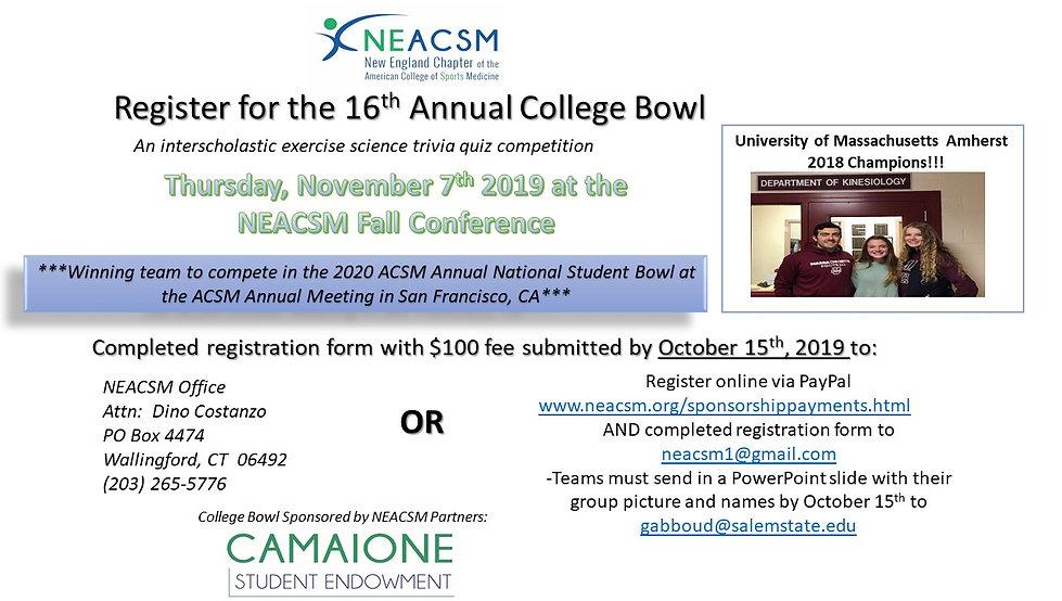 NEACSM 19 College Bowl Marketing Slide F