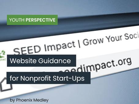 Website Guidance for Nonprofit Start-Ups