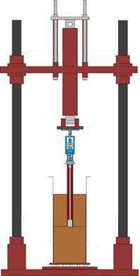 Pile loading/ pullout test apparatus
