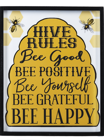 Hive Rules Wall Decor
