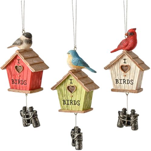 Bird House w/Binocular Ornament