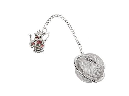 Pink Roses Teapot - Charming Tea Infuser