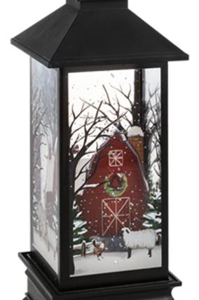 LED Light Up Shimmer Farm Scene Lantern