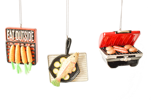 Camping Cooking Ornaments