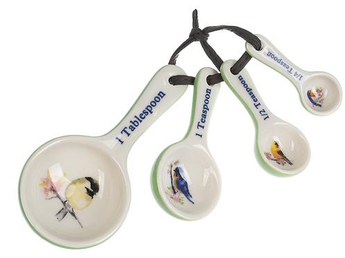 Birds - Measuring Spoons Ceramic