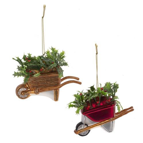 Wheelbarrow Ornaments