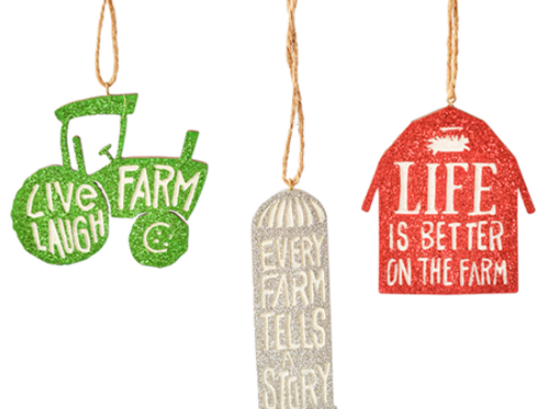 Farm Silhouette Ornaments