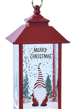 LED Light Up Gnome Mini Shimmer Lantern Ornament