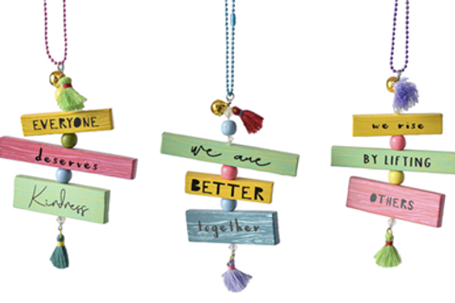 Kindness Text Ornaments