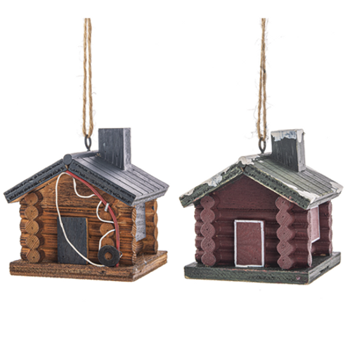Log Cabin Ornaments