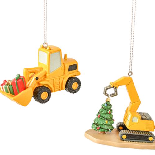 Pave Loader & Excavator Ornaments