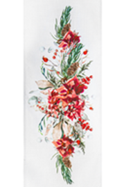 Embroidered Nature Scene Table Runner