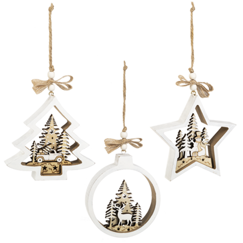 Winter Woodland Ornaments