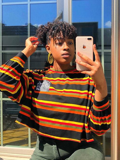 Proud Black Girl Stripe Crop