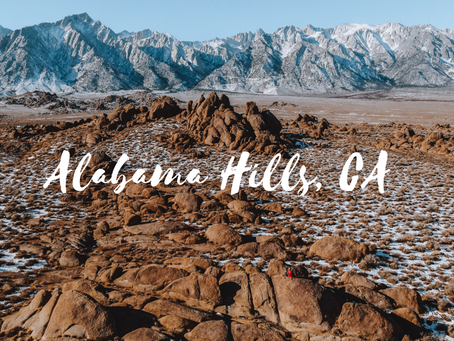 Alabama Hills Drone Video 4K