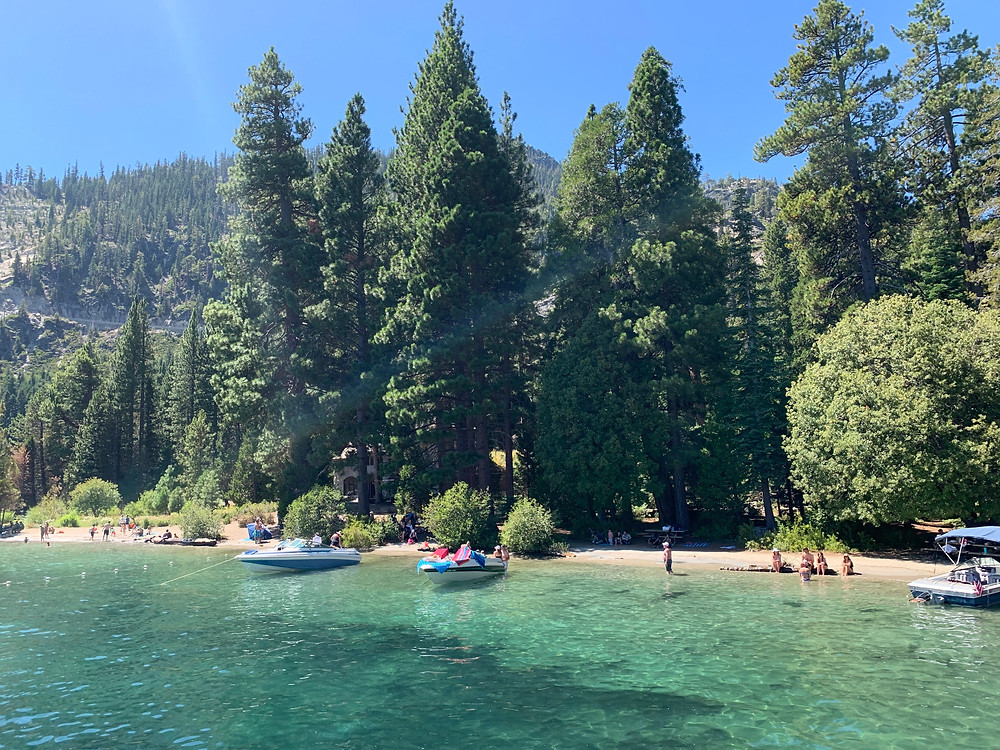 Emerald Bay in South Lake Tahoe by Tiki Boat