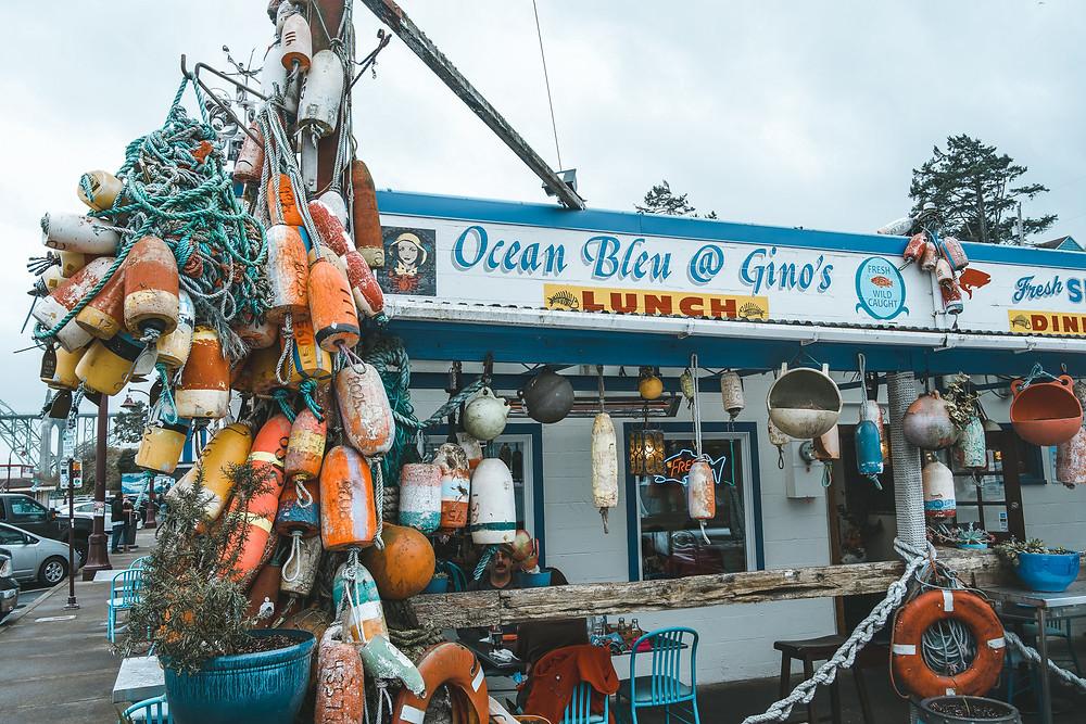 Ocean Bleu at Ginos Restaurant in Historic Newport Oregon