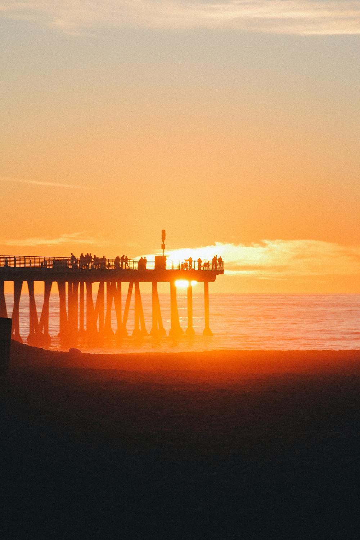 Hermosa Beach Pier in California at Sunset