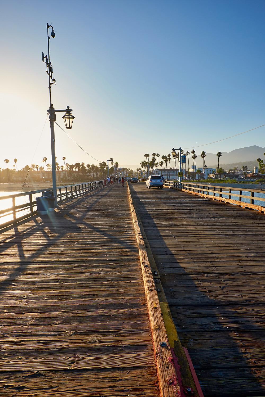 Stearns Wharf in Santa Barbara, California