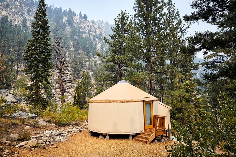 Wylder Glamping Tent in Tahoe National Forest